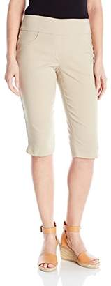 Fly London Ruby Rd. Women's Petite Pull-on Faux Super Stretch Solar Millennium Tech Clamdigger