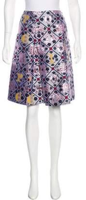 Mary Katrantzou Knee-Length Jacquard Skirt