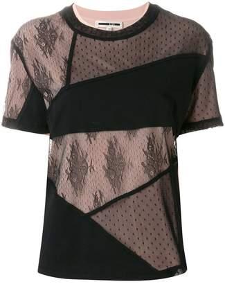 McQ patchwork lace T-shirt