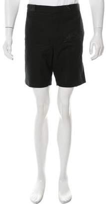 Black Fleece Woven Flat Front Shorts