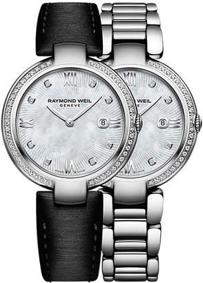 Raymond Weil Women's Shine 57-Diamond Watch With Interchangeable Strap
