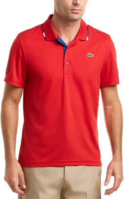 Lacoste Sport Ultra Dry Multi Color Collar Pique Polo