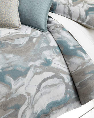 Isabella Collection by Kathy Fielder King Caspin Marbled Duvet Cover