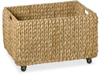 Williams-Sonoma Nantucket Woven Seagrass Rectangular Bin on Wheels