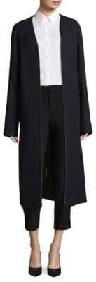 Haider Ackermann Collarless Quilted Wool Coat