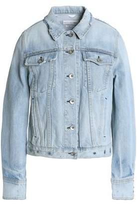 Rag & Bone Avenida Eyelet-Embellished Distressed Denim Jacket