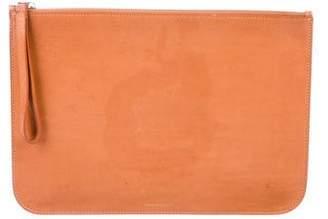 Mansur Gavriel Leather Zip Clutch