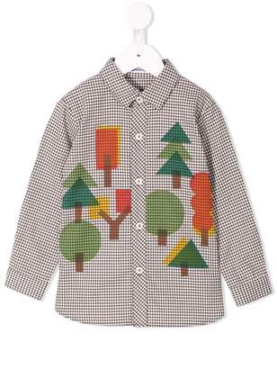 Familiar forest print check shirt
