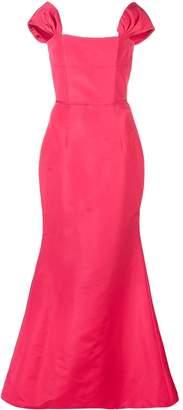 Carolina Herrera off-shoulder evening dress