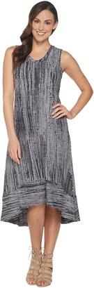 Halston H By H by Regular Printed Hi-Low Midi Dress