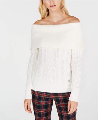 Tommy Hilfiger Off-The-Shoulder Sweater