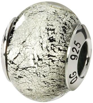 Murano Prerogatives Sterling Black/Silver Italian Glass Bead
