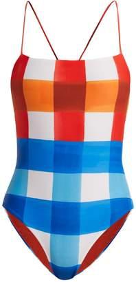 Mara Hoffman Olympia dejeuner plaid-print swimsuit