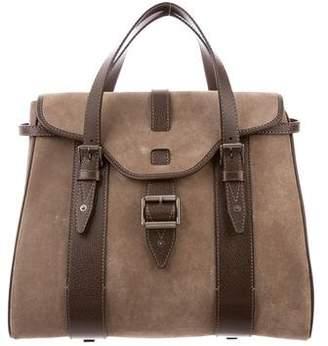 Belstaff Leather-Trimmed Suede Bag