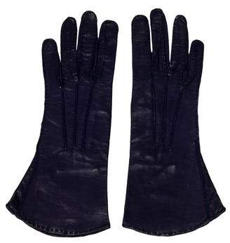 Donna Karan Leather Silk-Lined Gloves