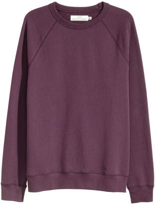 H&M Sweatshirt with Raglan Sleeves - Purple