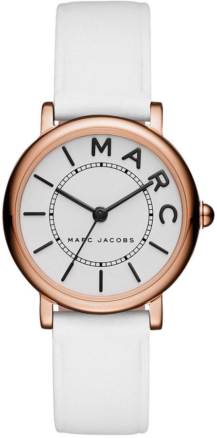 Marc By Marc JacobsMarc by Marc Jacobs Women's Roxy White Leather Strap Watch 28mm MJ1562