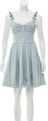 Fendi Denim A-Line Dress