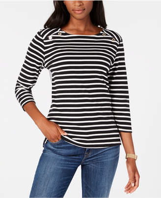 Tommy Hilfiger Cotton Mixed-Media Top