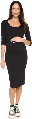 MONROW Maternity Long Sleeve Dress $130 thestylecure.com