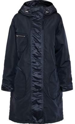Belstaff Claredon Satin-Trimmed Shell Hooded Coat