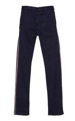 Dondup Sport Stripe Straight Leg Jeans