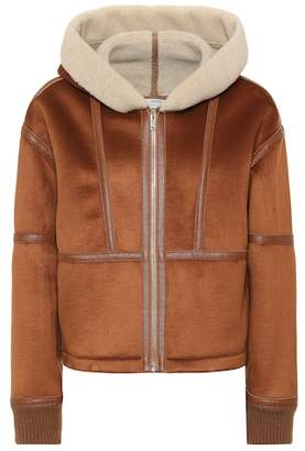 Stella McCartney Faux shearling-trimmed jacket