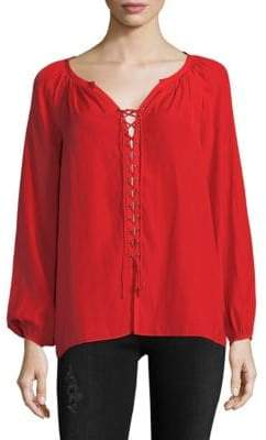 Ramy Brook Patty V-Neck Long-Sleeve Top