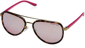 Michael Kors Women's Playa Norte MK5006-10357V-57 Aviator Sunglasses