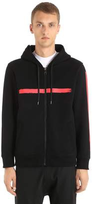 Neil Barrett Hooded Printed Neoprene Sweatshirt