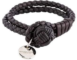 6cce67d67b78de Bottega Veneta Intrecciato Double Row Knot Bracelet