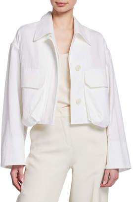 Dries Van Noten Garment Washed Crop Jacket