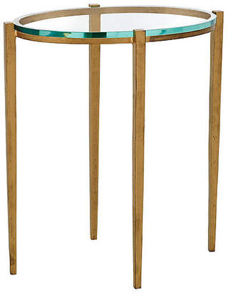 Global Views Petite Oval Side Table - Antiqued Brass