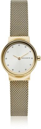 Skagen Freja Gold-Tone Steel-Mesh Women's Watch