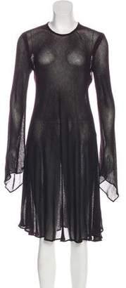 Donna Karan Wool Knee-Length Dress