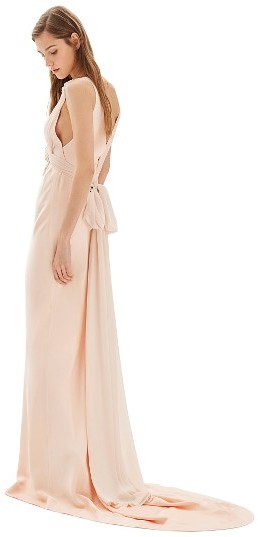 Topshop Women's Topshop Bride Floral Applique Sheath Gown