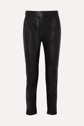 Rag & Bone Mila Leather Track Pants - Black