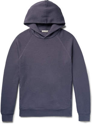 Alex Mill Mélange Slub Loopback Cotton-Jersey Hoodie