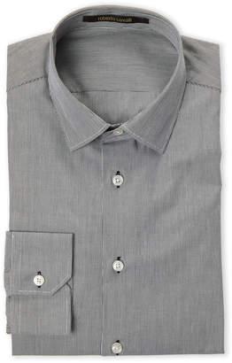 Roberto Cavalli Slim Fit Mini Stripe Dress Shirt