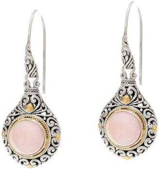 Artisan Crafted Sterling Silver & 18K Gold Gemstone Dangle Earrings