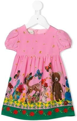 Gucci Kids baby animals print dress