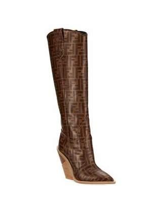 Fendi FF Tall Western Boot