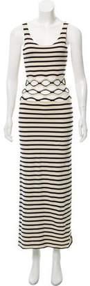 Jean Paul Gaultier Soleil Stripe Cut-Out Maxi Dress