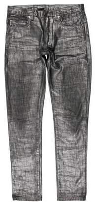 Christian Dior 2006 Metallic Waxed Radioactive Jeans