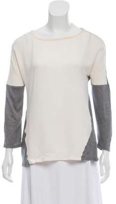 Michael Kors Sheer Long Sleeve Top