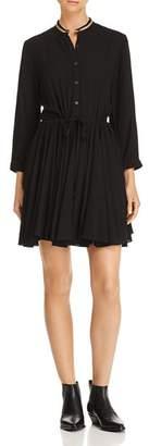 Aqua Metallic-Trim Shirt Dress - 100% Exclusive