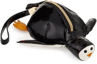 Betsey Johnson Penguin Faux-Leather Wristlet, Black $40 thestylecure.com
