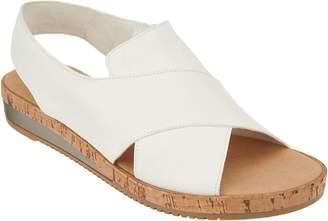 Sesto Meucci Leather Cross Strap Wedge Sandals - Sylke