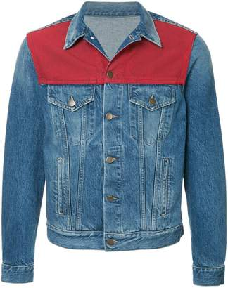 Ports V colour panel denim jacket