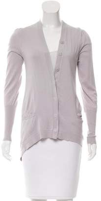 Brunello Cucinelli High-Low V-Neck Cardigan
